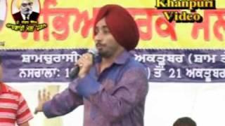 Satinder Sartaj ( Best Song Pani.....) Nasrala (Shamchurasi) Mela 2009