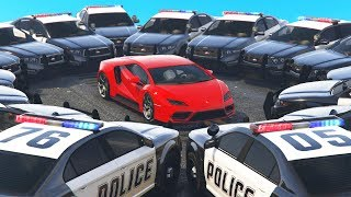 Boxed In By 20+ Cop Cars! (GTA 5 Cops & Robbers)