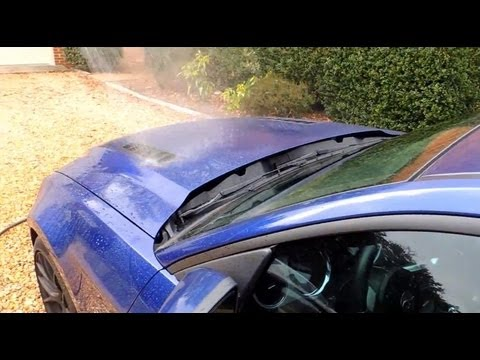2013 Ford Mustang GT Hood Vent Water Test With Steeda Cold Air Intake
