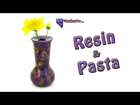 A Bud Vase Made of Purple Resin and Pasta | Dunkin Junk