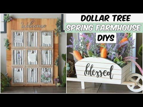 DOLLAR TREE SPRING FARMHOUSE DECOR DIYS 2019