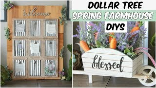 DOLLAR TREE SPRING FARMHOUSE DECOR DIYS 2019