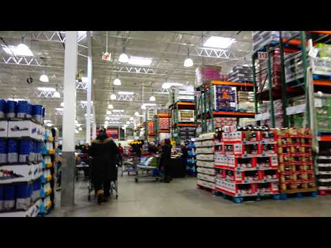 [4K] 2018 Detailed Tour of Costco Wholesale (Supermarket) Brampton Canada with Trolley Cam