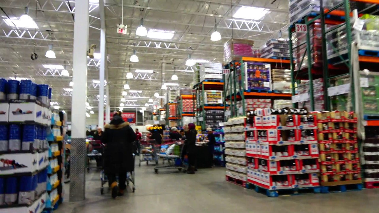 Walking Tour of Costco Wholesale (Supermarket) Brampton Canada with Trolley  Cam 4K 2018