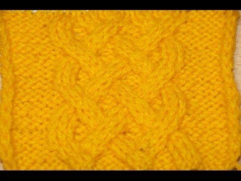 Вязание спицами узора