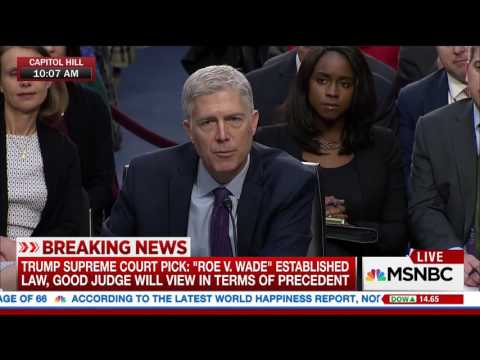 Gorsuch on Roe v. Wade