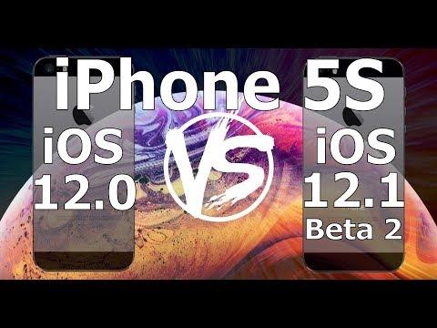 Speed Test : iPhone 5S - iOS 12.1 Beta 2 vs iOS 12.0 (Build 16B5068i) iOS 12.1 Public Beta 2