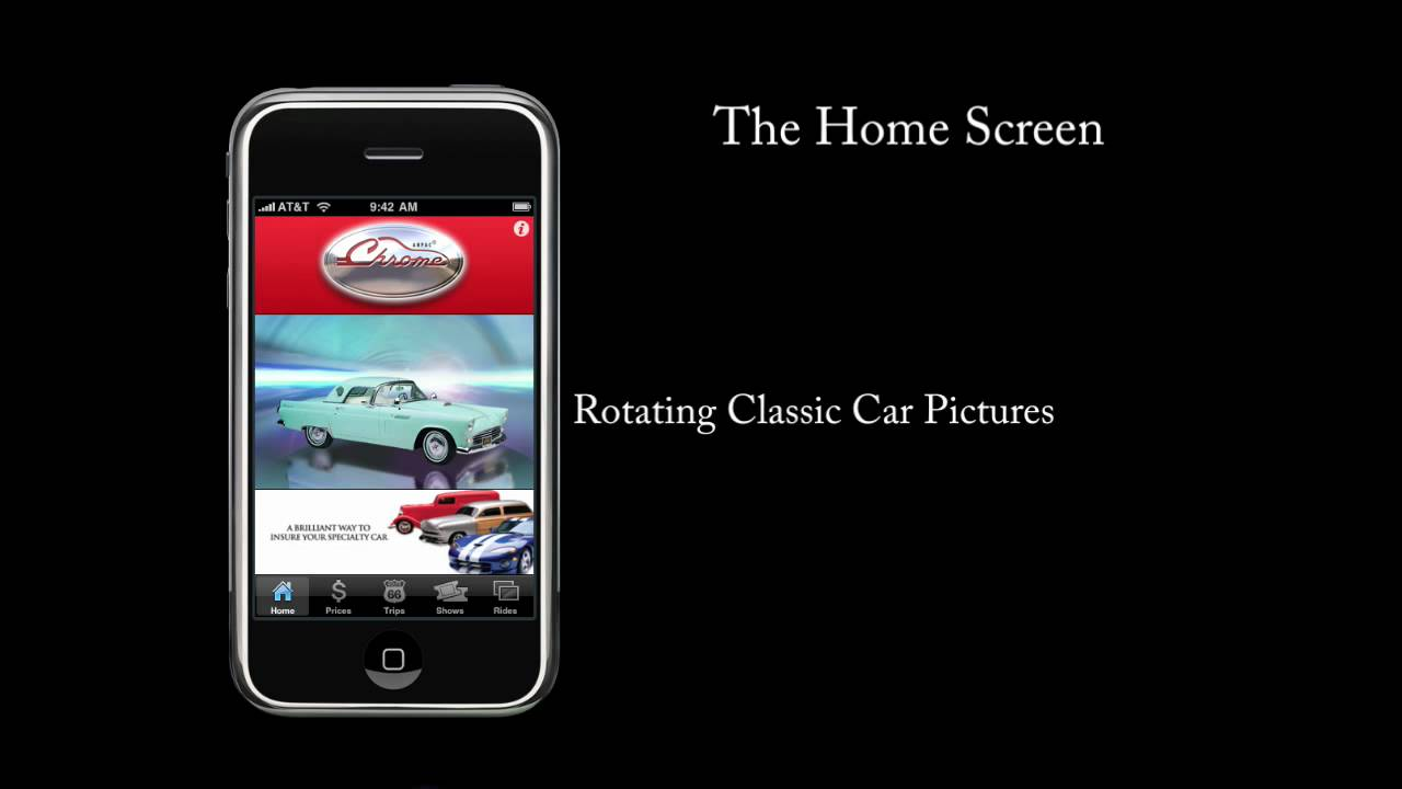 Chrome iPhone App Demo - see how old car price guide works and more ...