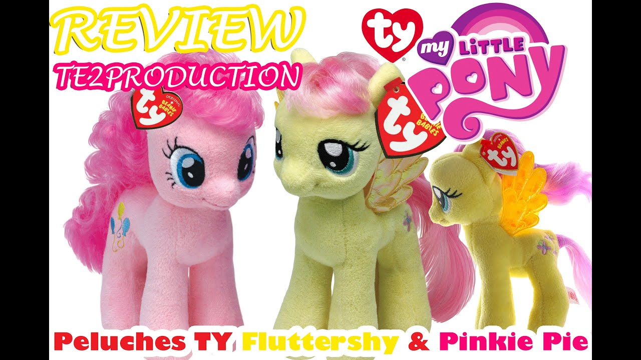 7407e47815e Review My Little Pony Peluches TY Pinkie Pie   Fluttershy - YouTube