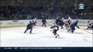 Jordan Leopold wrist shot goal 4-4 Ottawa Senators vs St. Louis Blues  2/4/14 NHL Hockey.