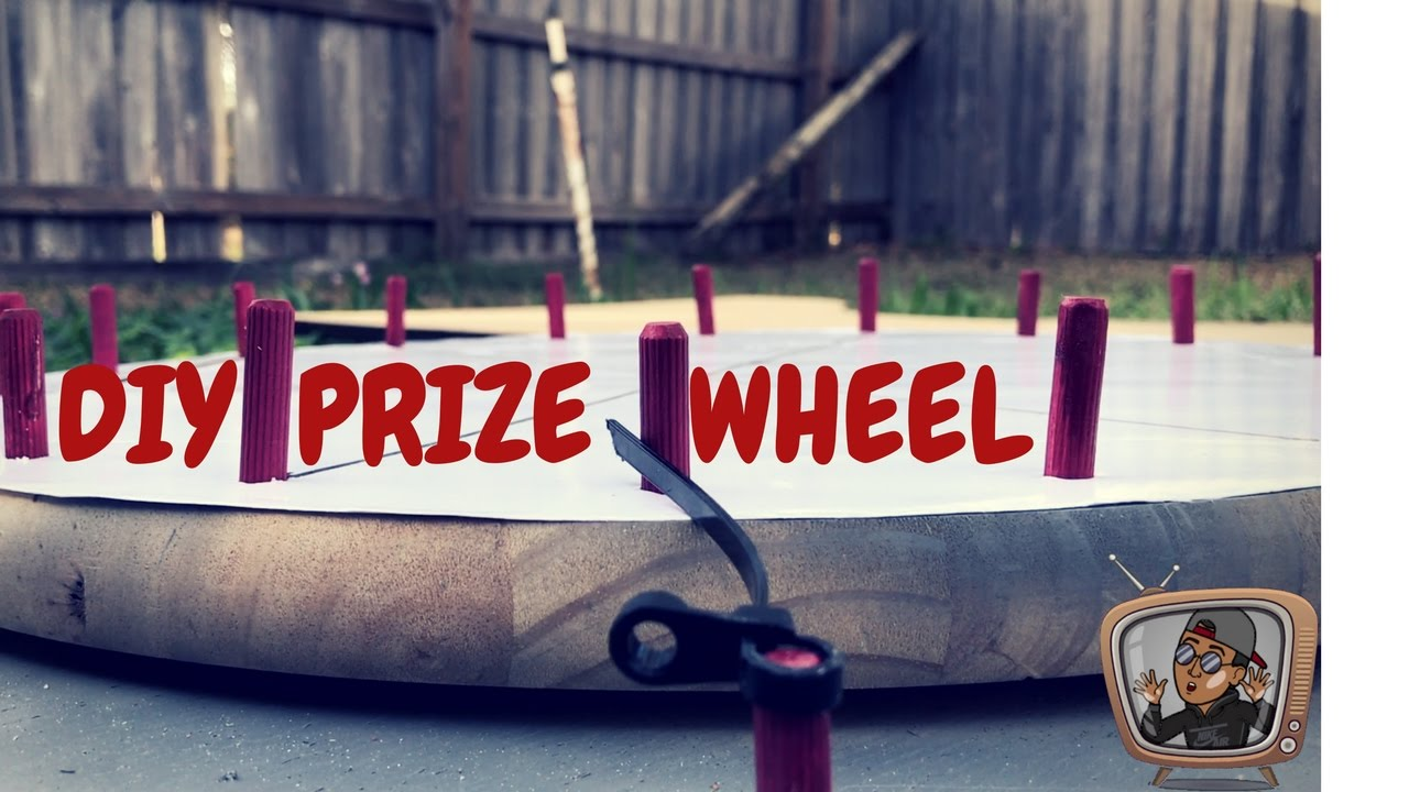 how to build a prize wheel stand