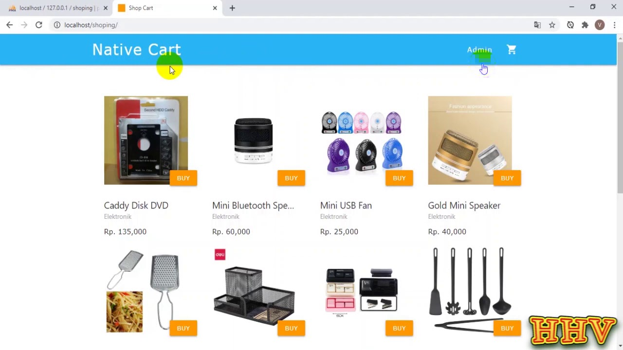 PHP & MYSQL - Shoping mini project Source Code Download