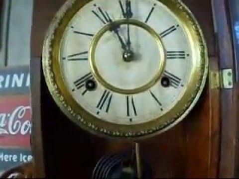 Operational Condition Video Antique Waterbury Shelf Clock
