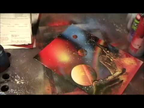 spray paint art secrets how to spray paint planets galaxies. Black Bedroom Furniture Sets. Home Design Ideas
