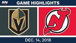 NHL Highlights | Golden Knights vs. Devils - Dec 14, 2018