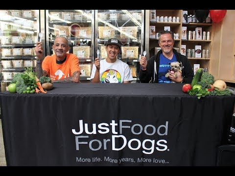 Dog food eating contest for humans, Just Food For Dogs at Pet Food Express