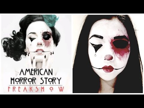 American Horror Story Freak Show Clown Makeup Tutorial | Iamdazale