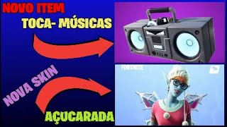 Fortnite * NEW SKIN ((SUGARY)) and NEW ITEM ((MUSIC PLAYS)) FEAT GPLUS