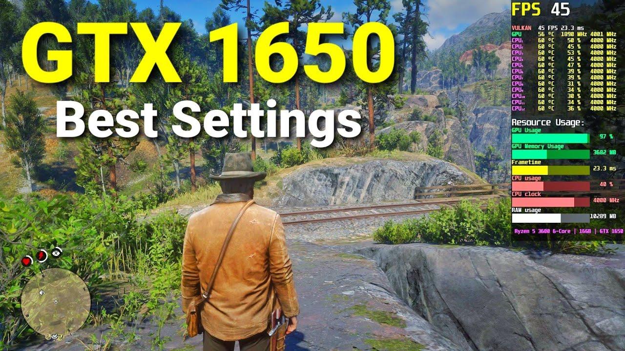 Red Dead Redemption 2 | GTX 1650 | Best Settings FPS Test