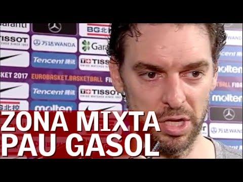 Pau Gasol habla en zona mixta tras perder con Eslovenia |DIario AS