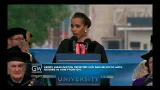 Kerry Washington Keynote Speech at GWU 2013 Commencement Ceremony 05/19/13