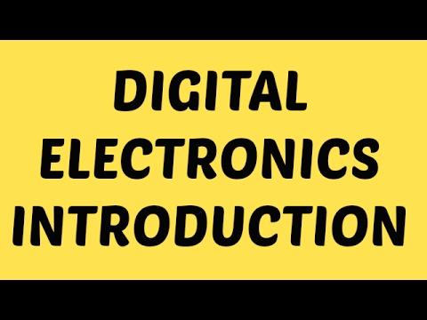 Digital Electronics   Lecture-1   Basics of Digital Electronics