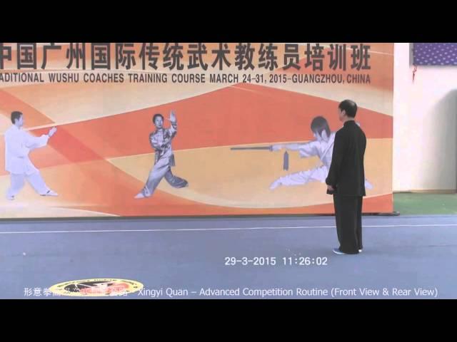 Xingyi Quan - Example Routine - Advanced Standardized Competition Routine / Xingyi Quan - пример рутины - расширенный режим стандартизированной конкуренции