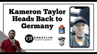Kam Taylor Heads Back to Germany!