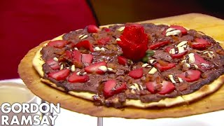 Download youtube to mp3: Ramsay Forced to Spit Out BACON & CHOCOLATE PIZZA! | Hotel Hell