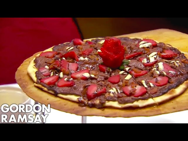 Ramsay Forced to Spit Out BACON & CHOCOLATE PIZZA! | Hotel Hell