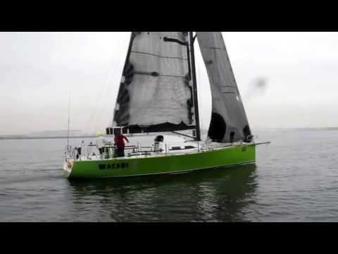 Wasabi finishing Melbourne to Osaka Yacht Race