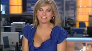 Live TV show boobs pop out