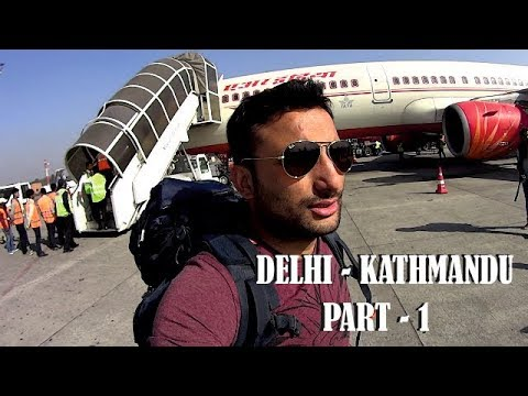 Flight From Delhi To Kathmandu PART 1