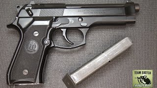 DIY Beretta 92/96/M9 Magazine Catch:  How to switch to Left side