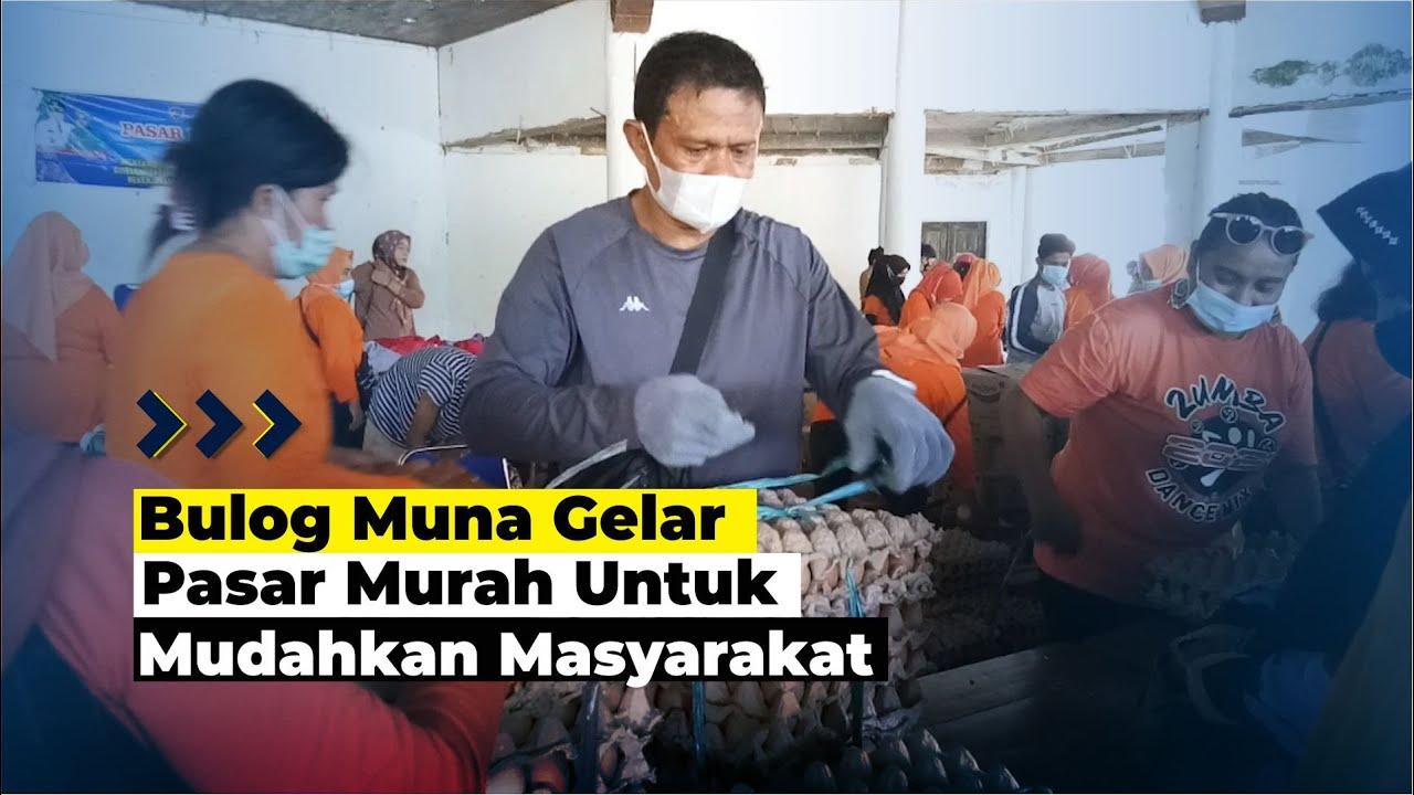 Bulog Muna Gelar Pasar Murah Jelang Idul Fitri
