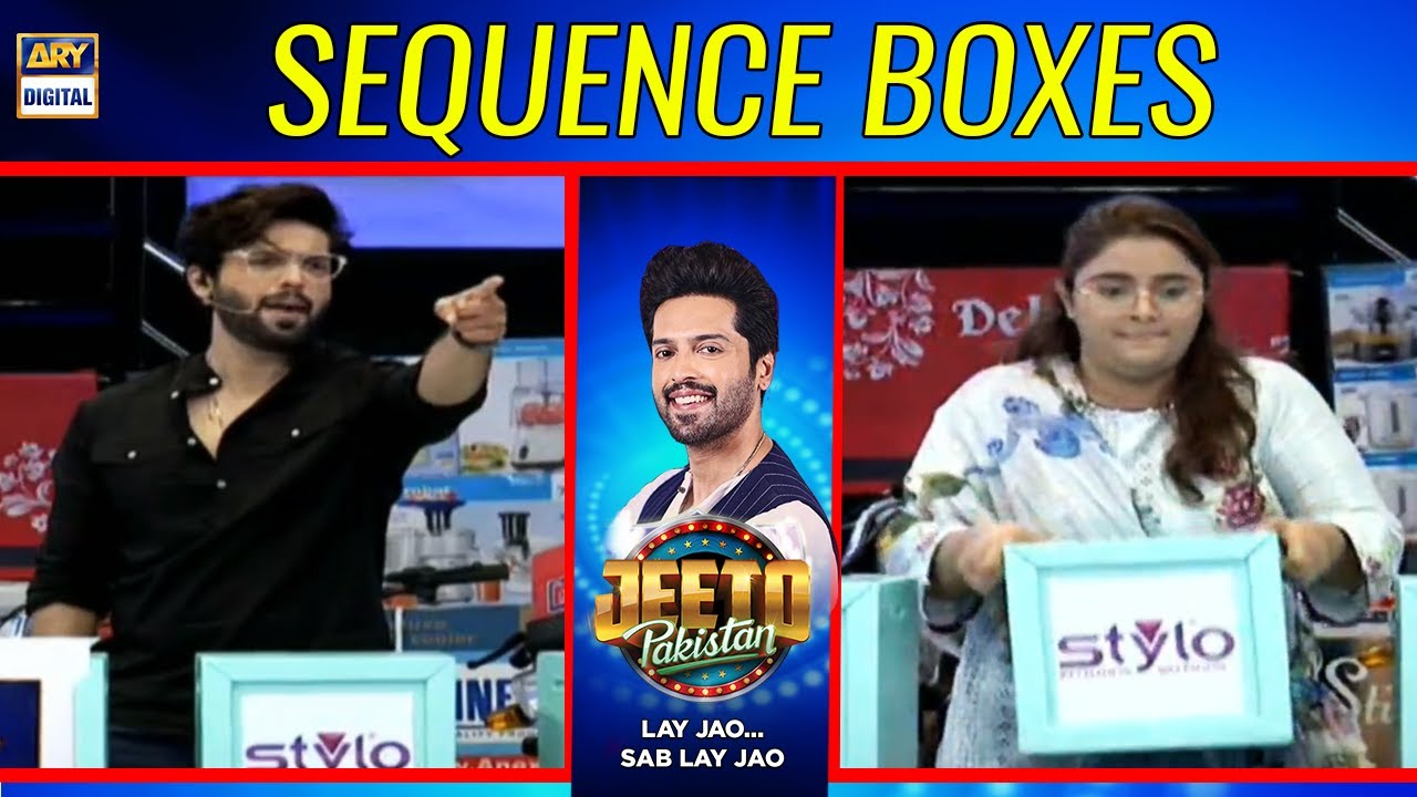 Sequence Boxes in Right Path - Fahad Mustafa | Jeeto Pakistan