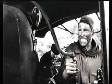 Train being chased by Spitfire ( Burt Lancaster- THE TRAIN,1964 ) .mp4