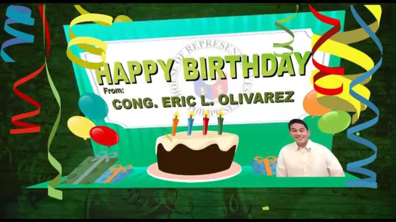 Happy birthday from congressman eric l olivarez youtube happy birthday from congressman eric l olivarez kristyandbryce Choice Image