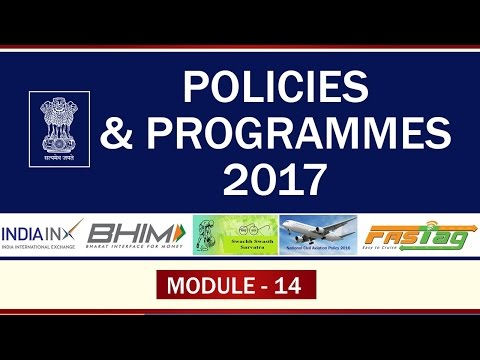 POLICIES AND PROGRAMMES 2017 Module-14