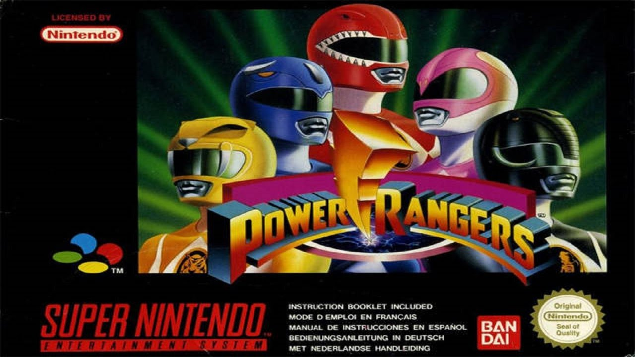 Mighty Morphin Power Rangers Gameplay Longplay SNES