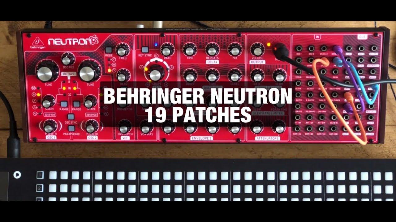 Behringer Synthesizer Neutron