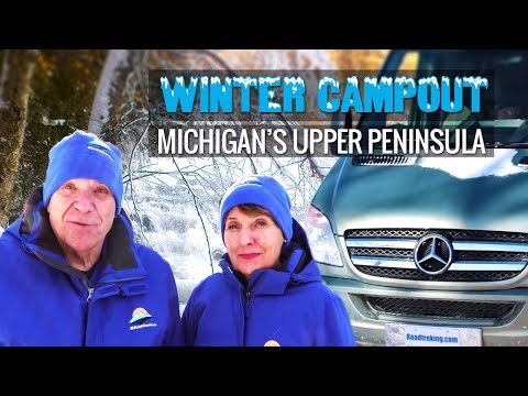 Winter Campsite Tour with Mike & Jennifer | 2018 Winter Campout in Michigan's Upper Peninsula