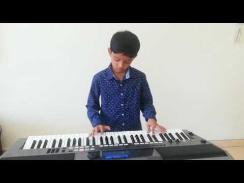 """""""Neele Neele Ambar Par""""(Kalakaar)Song  Keyboard play by Atharva"""