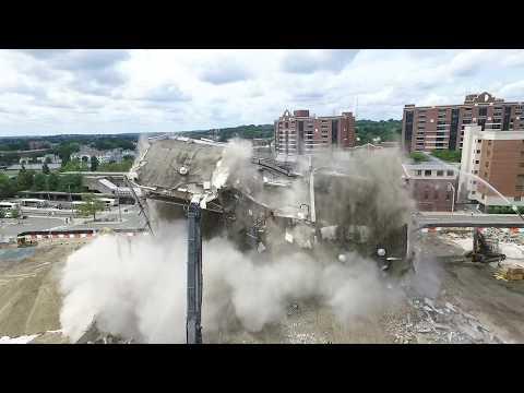 Malden City Hall - The Final Moment of Demolition