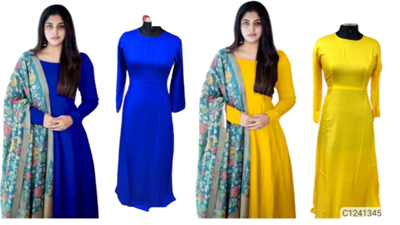 #Duptta Online shopping womens for beautiful Rayon solid kurti with Dupatta starting ₹600 360p