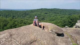 Shawnee National Forest hiking and camping July 2019