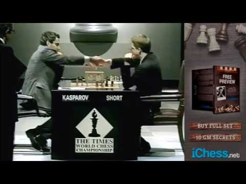 Kasparov vs Short! Rare footage of mid-match interviews