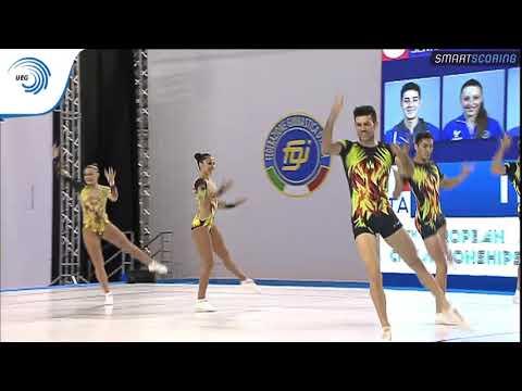 Italy - 2017 Aerobics Europeans, group final