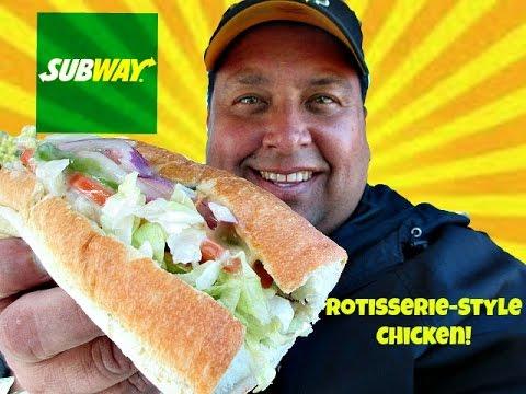 SUBWAY® Rotisserie - Style Chicken Sandwich REVIEW!