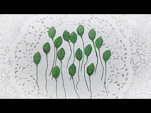 Смотреть Как сделать листья розы из бумаги своими руками. Скрапбукинг. Мастер класс.